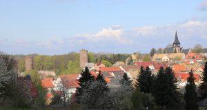 Blick auf Burg Kohren