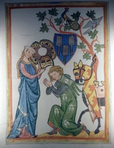 Mittelalterliche Darstellung im Museum