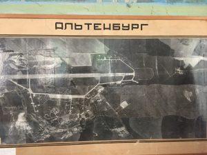 Russische Luftaufnahme des Flugplatz