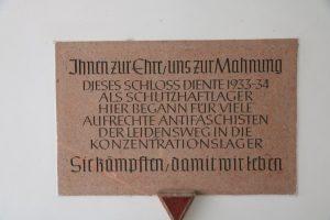 Gedenktafel zu Ehren der Opfer des NS Regimes