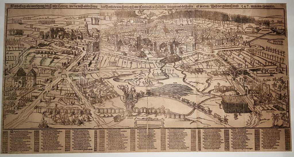 Älteste Stadtansicht von Leipzig 1547