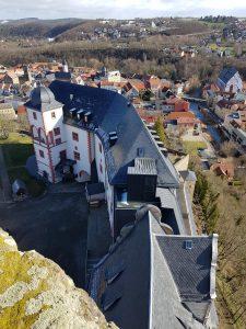 Innenhof und die Stadt Weida
